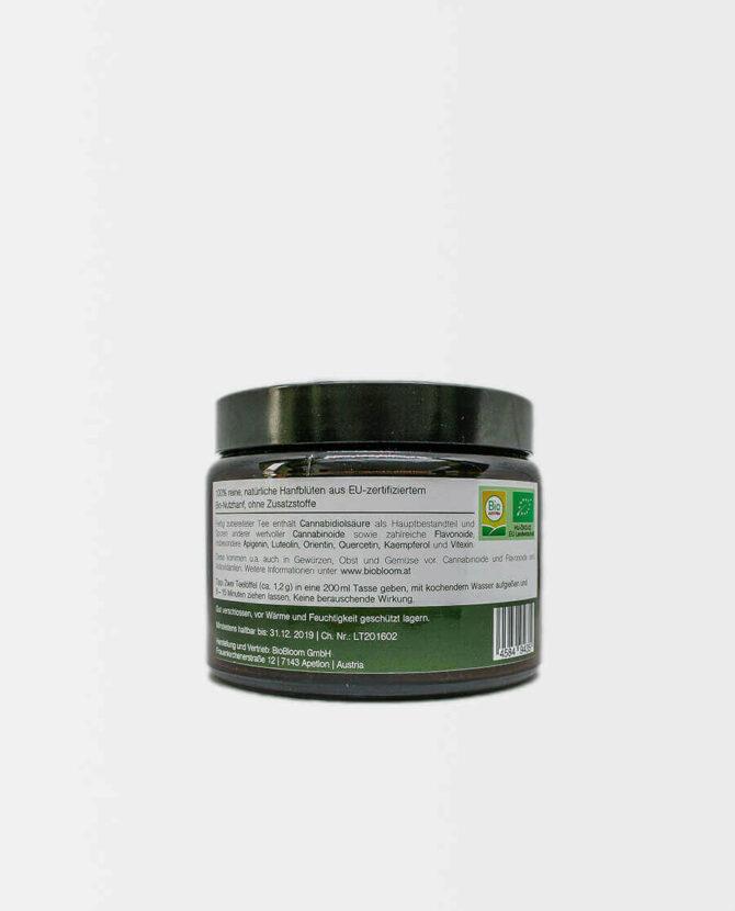 BioBloom - Bio Hanfblütentee - Glastiegel