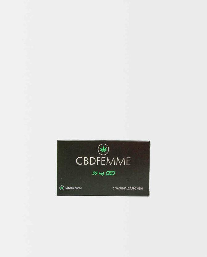 Hanfpassion - CBDFemme - CBD Vaginalzäpfchen