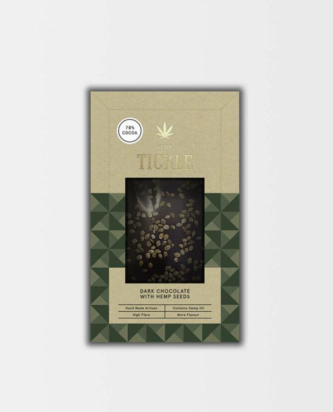 Dunkle Hanfschokolade mit Phytocannabinoiden