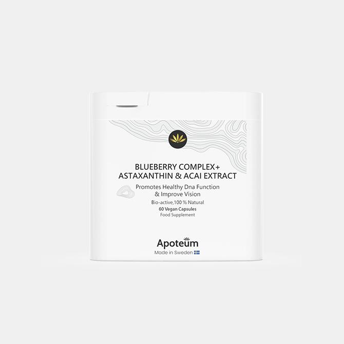 Apoteum - Blaubeerkomplex + Astaxanthin & Acai-Extrakt