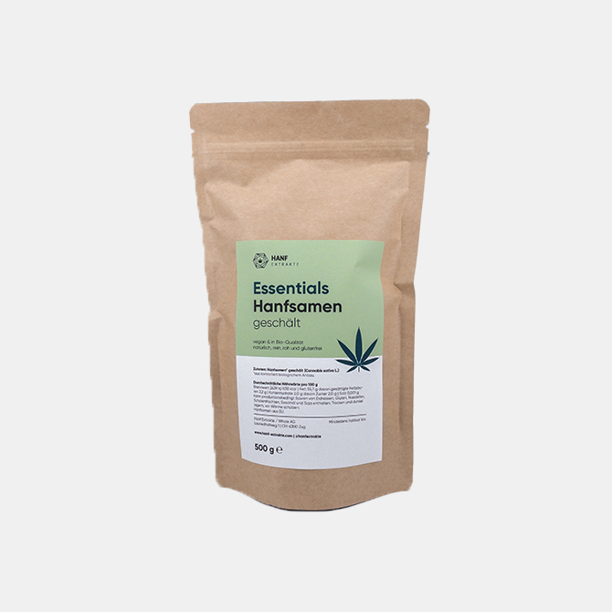 Hanf Extrakte - Essentials Hanfsamen geschält