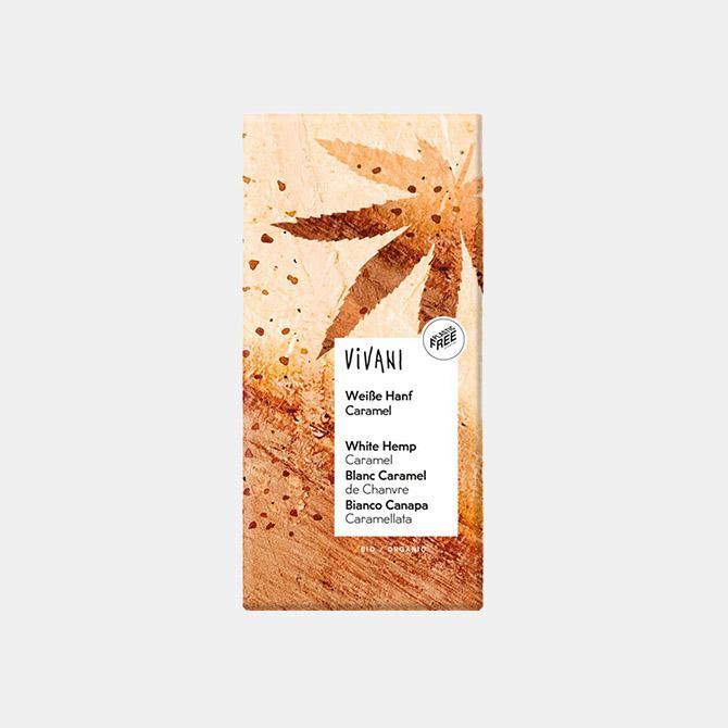 Vivani – Weiße Hanf Caramel Schokolade